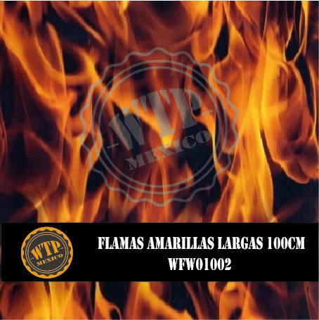 FLAMAS AMARILLAS LARGAS 100 CM