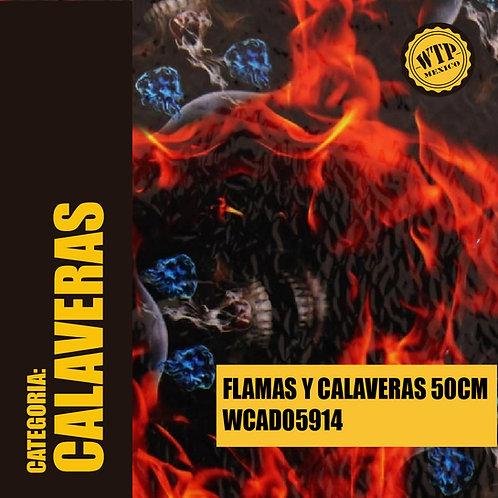 FLAMAS Y CALAVERAS 50 CM