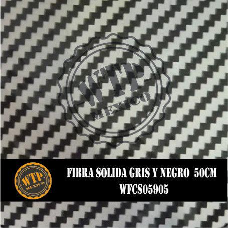 FIBRA SOLIDA GRIS Y NEGRO 50 CM