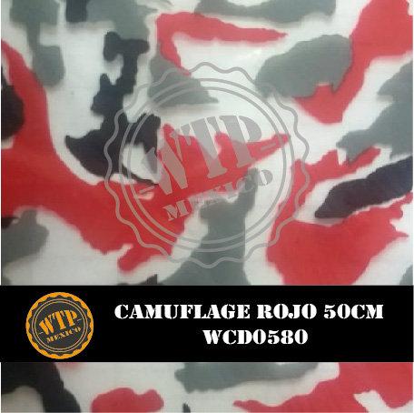 CAMUFLAGE ROJO 50 CM