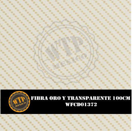 FIBRA ORO Y TRANSPARENTE DE 100 CM