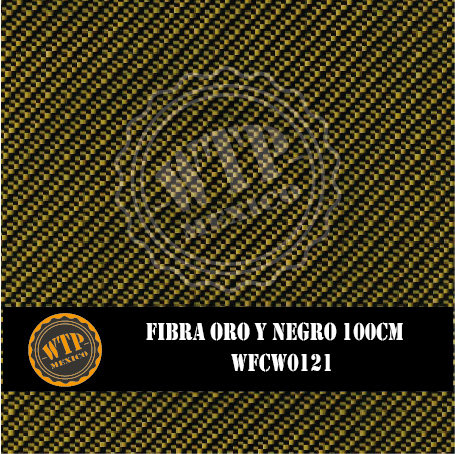 FIBRA ORO Y NEGRO 100 CM