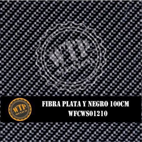 FIBRA PLATA Y NEGRO 100 CM