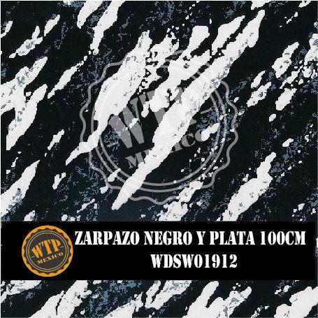 ZARPAZO NEGRO Y PLATA 100 CM