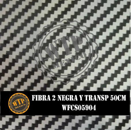FIBRA 2 NEGRA Y TRANSPARENTE 50 CM