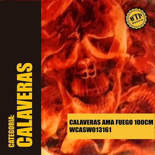 CALAVERAS AMARILLAS FUEGO 100 CM