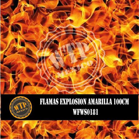 FLAMAS EXPLOSIÓN AMARILLA 100 CM