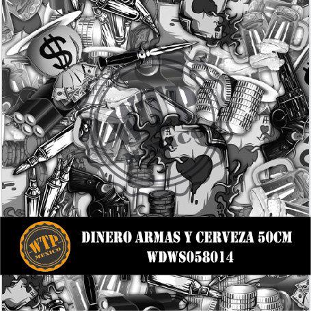 DINERO, ARMAS Y CERVEZA 50 CM