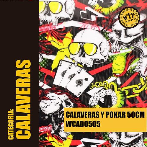 CALAVERAS Y POKAR 50 CM