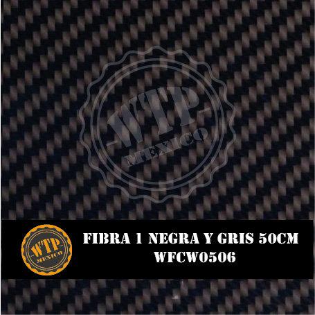 FIBRA 1 NEGRA Y GRIS 50 CM
