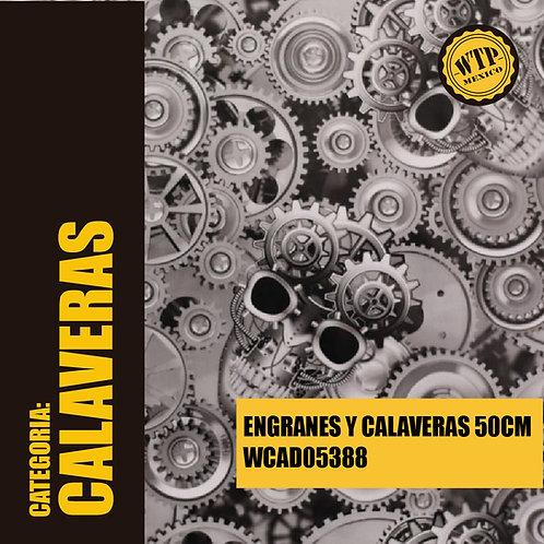 ENGRANES Y CALAVERAS 50 CM