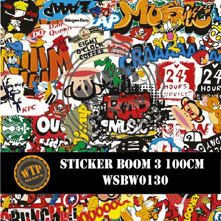 STICKER BOOM 3 100 CM