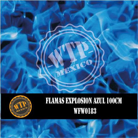 FLAMAS EXPLOSION AZUL 100 CM