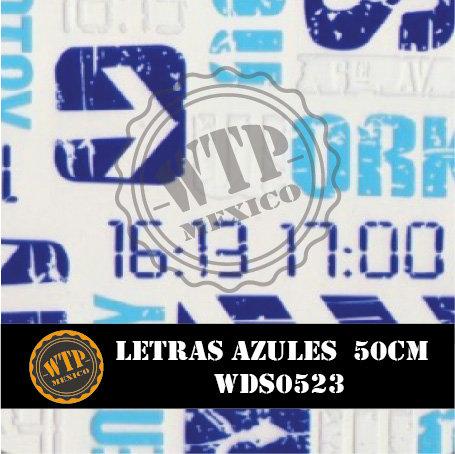 LETRAS AZULES 50 CM