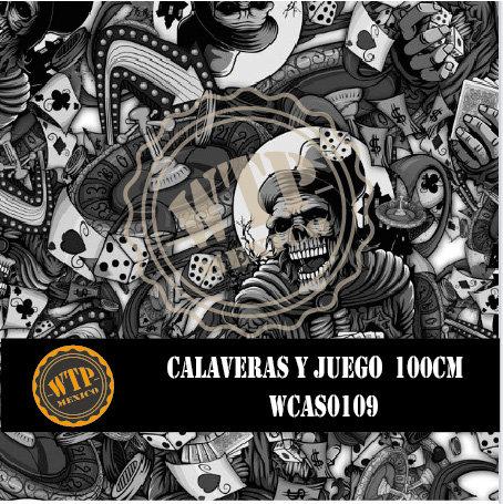 CALAVERAS Y JUEGO 100 CM
