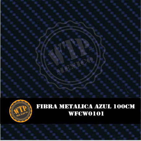 FIBRA METÁLICA AZUL 100 CM