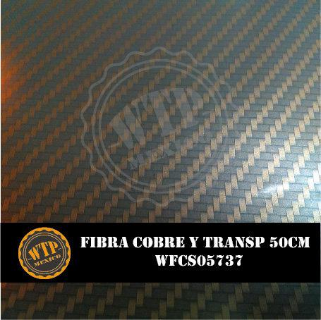 FIBRA COBRE Y TRANSPARENTE 50 CM