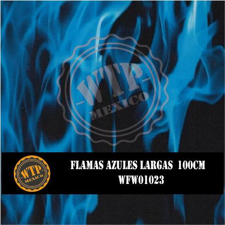 FLAMAS AZULES LARGAS 100 CM
