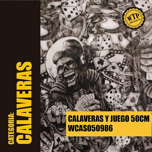 CALAVERAS Y JUEGO 50 CM