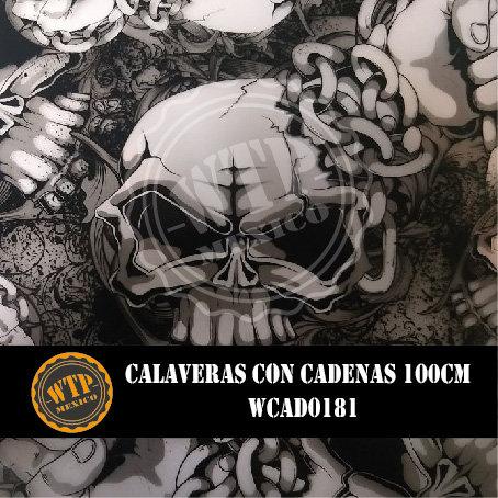 CALAVERAS CON CADENAS100 CM