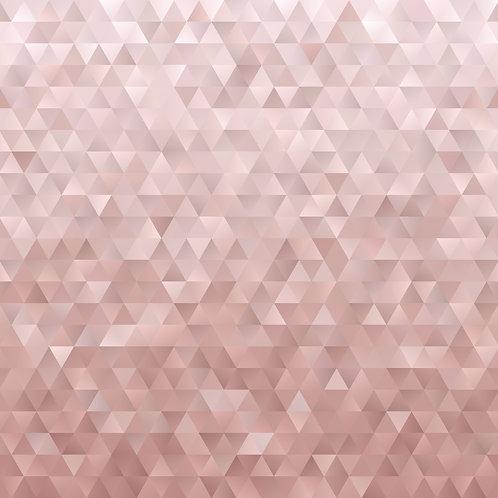 Rose Gold Geometric Low Poly Pattern Printed Adhesive Vinyl