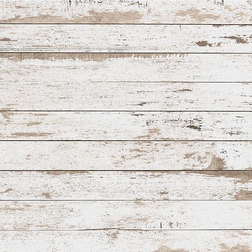 White Distressed Wood Printed Adhesive Vinyl