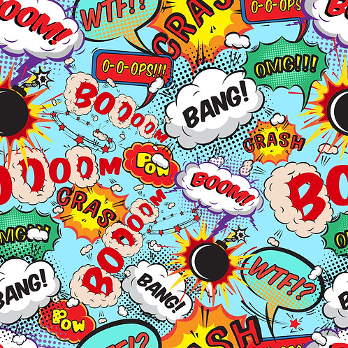 Boom Bang Pattern Printed Adhesive Vinyl