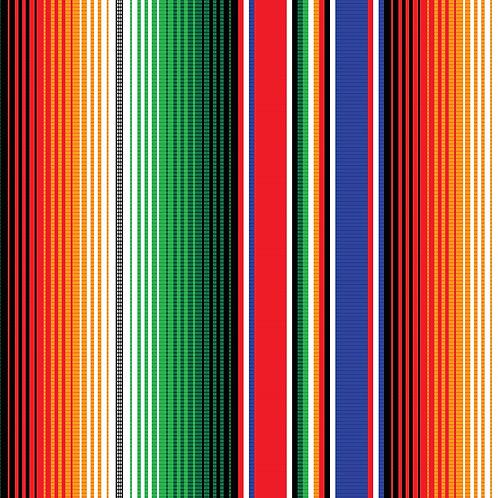 Mexican Serape Pattern Printed Adhesive Vinyl
