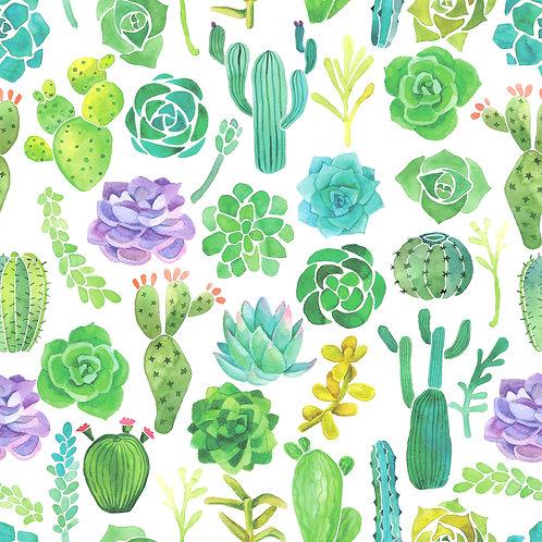 Cactus/Succulent Pattern Printed Adhesive Vinyl