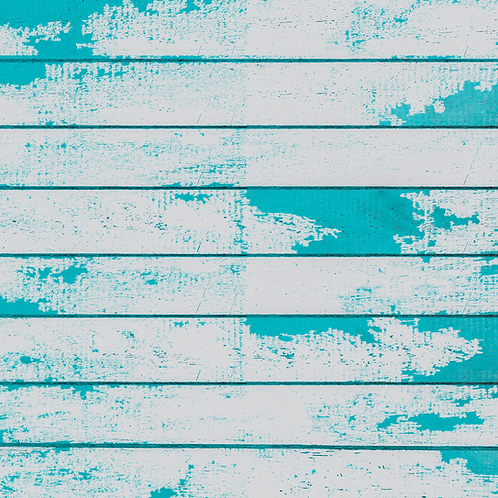 Turquoise Distressed Wood Printed Adhesive Vinyl
