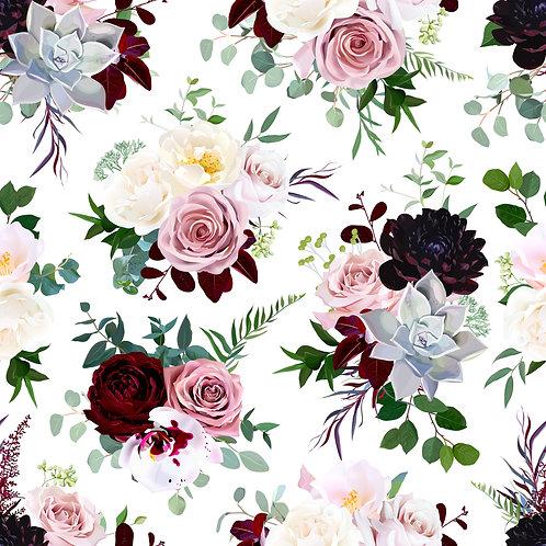 Wild Rose Pattern Printed Adhesive Vinyl