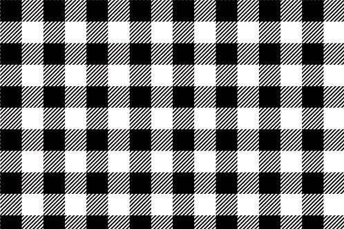 Black & White Plaid Printed Adhesive Vinyl
