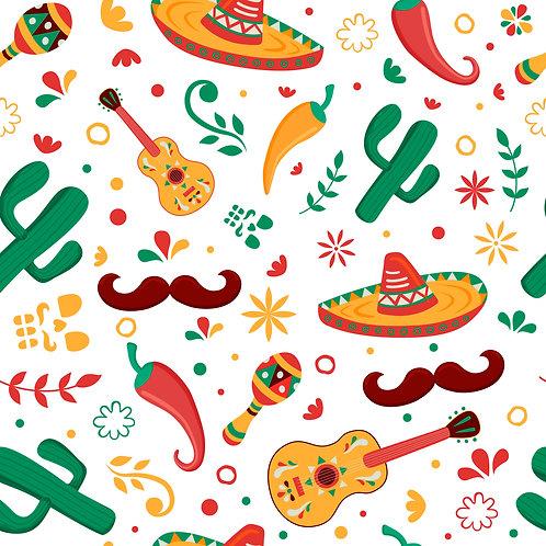 Fiesta Pattern Printed Adhesive Vinyl