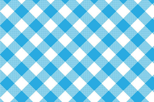 Blue Plaid Printed Adhesive Vinyl