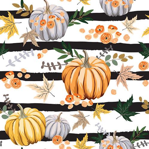 Autumn Orange Pumpkins Printed Adhesive Vinyl