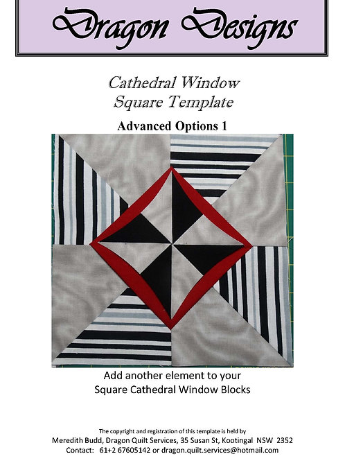 Cathedral Window Square Instruction Book - Advanced Options 1
