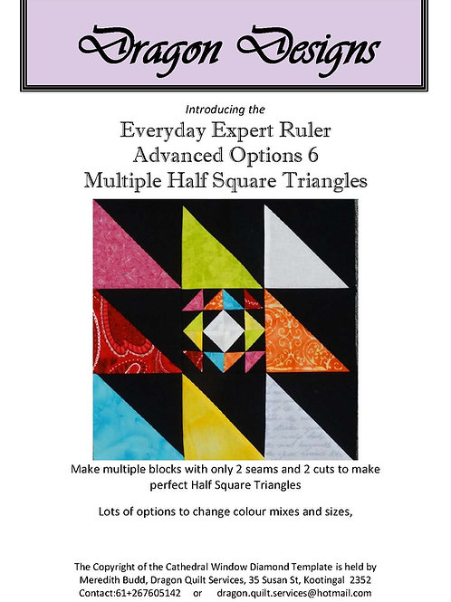 Everyday Expert Ruler Instruction Book - Advanced Options 6
