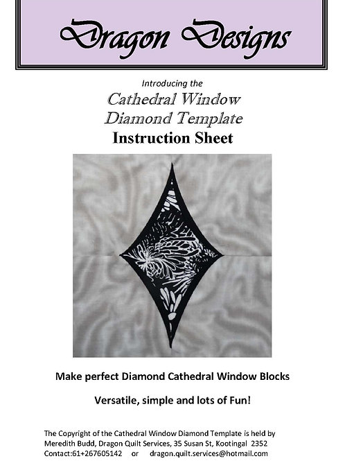 Cathedral Window Diamond Instruction Book