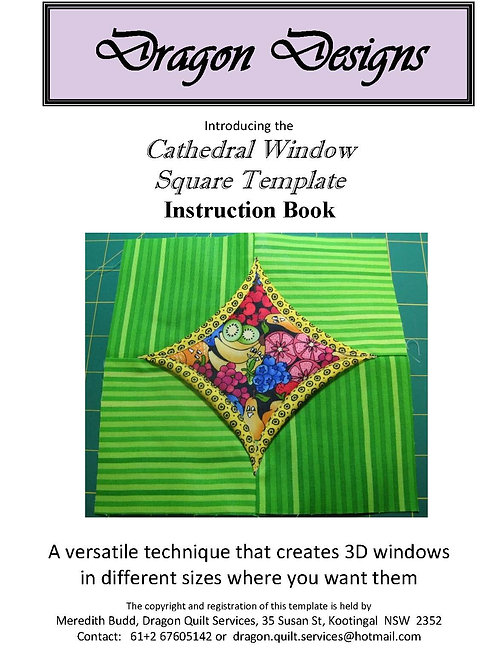 Cathedral Window Square Instruction Book