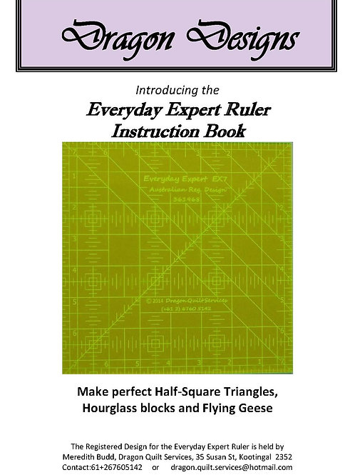 Everyday Expert Ruler Instruction Book