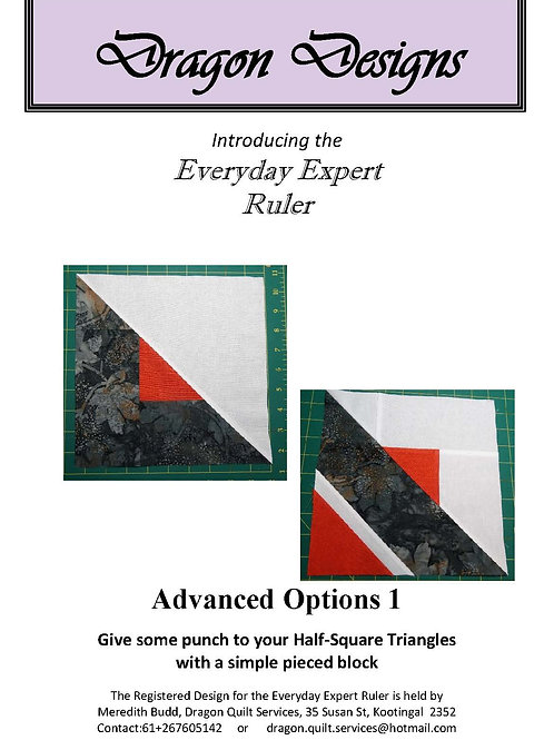 Everyday Expert Ruler Instruction Book - Advanced Options 1