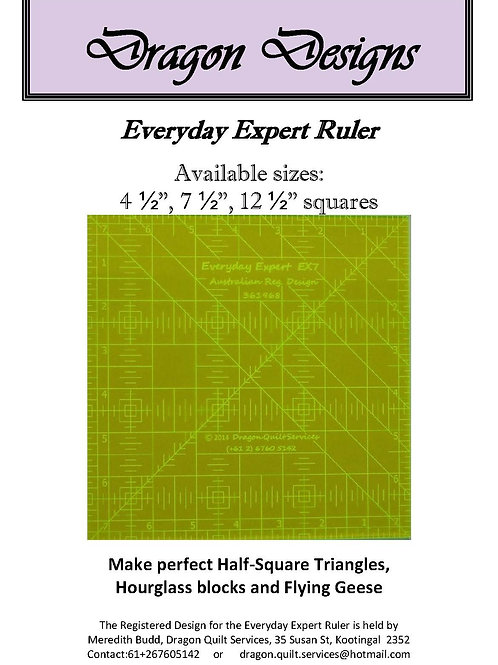 Complete Set - Everyday Expert Rulers - All sizes