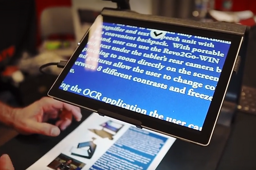 Revo2Go-WIN All-in-one Portable Magnifier, Windows 10 Tablet and OCR