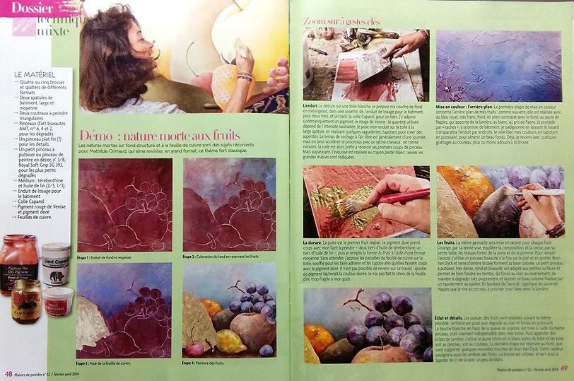 mathilde grimaud magazine paisir de peindr