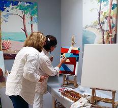 Cours de peinture atelier Camus Nantes