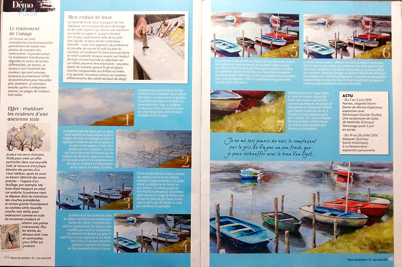 mathilde grimaud magazine plaisir de peindre