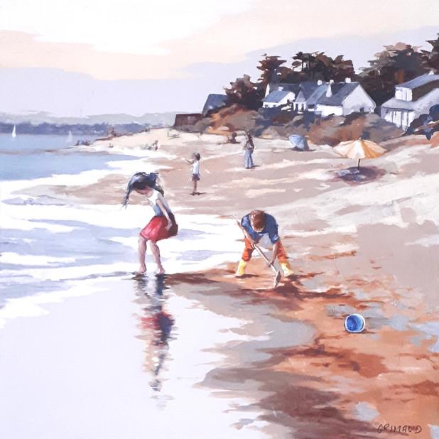 Jeux de plage à Lanséria / 60x60 / vendu