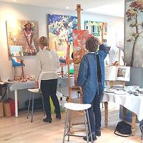 Atelier artiste Nantes cours de peinture