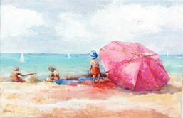 Sur la plage / vendu