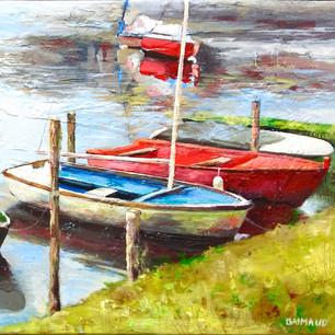 Barques sur l'Erdre 30x60 / prix sur demande